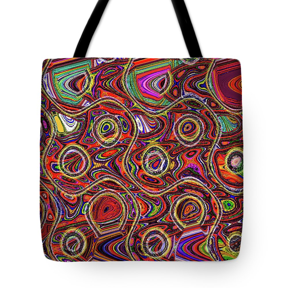 Janca Abstract Panel #097e10 Tote Bag featuring the digital art Janca Abstract Panel #097e10 by Tom Janca