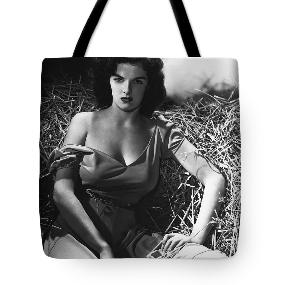 Hollywood Stars Celebrity Tote Bag featuring the photograph Jane Russell In The Outlaw Wow by Peter Nowell