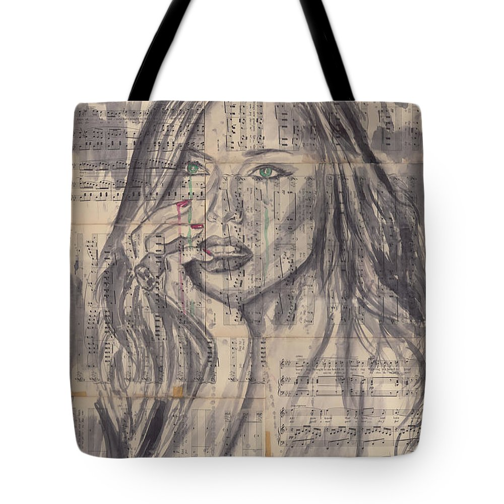 Model Tote Bag featuring the painting Janine by Jason Sauve