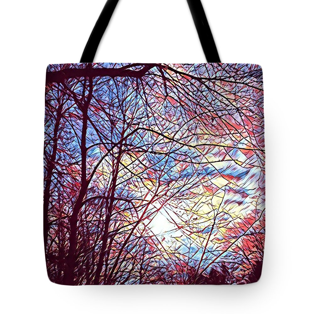 January Beauty Tote Bag featuring the digital art January Beauty 1 by Brenda Plyer