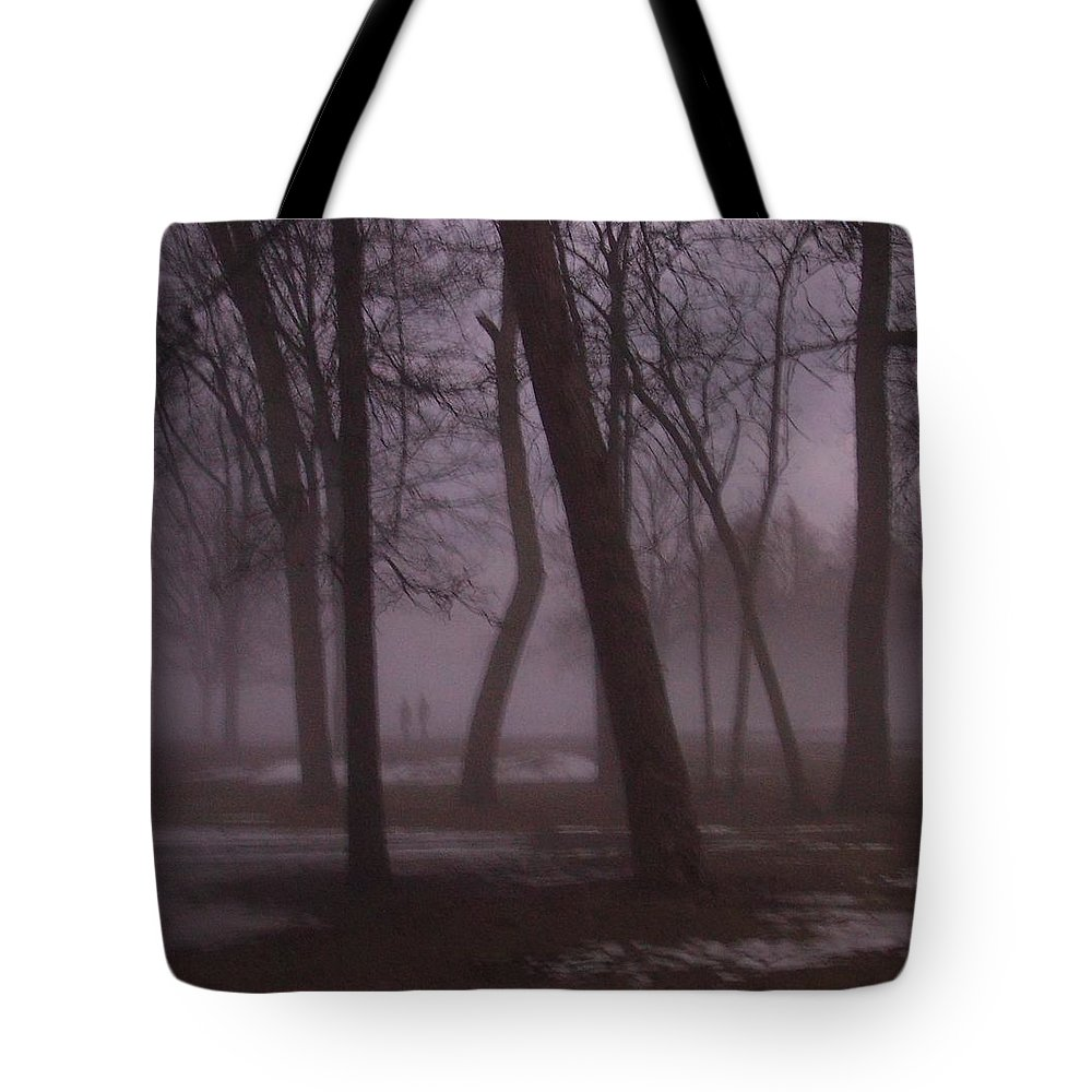 January Tote Bag featuring the photograph January Fog 1 by Anita Burgermeister