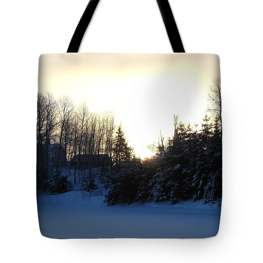 January Tote Bag featuring the photograph January Winter Morninng by Kent Lorentzen