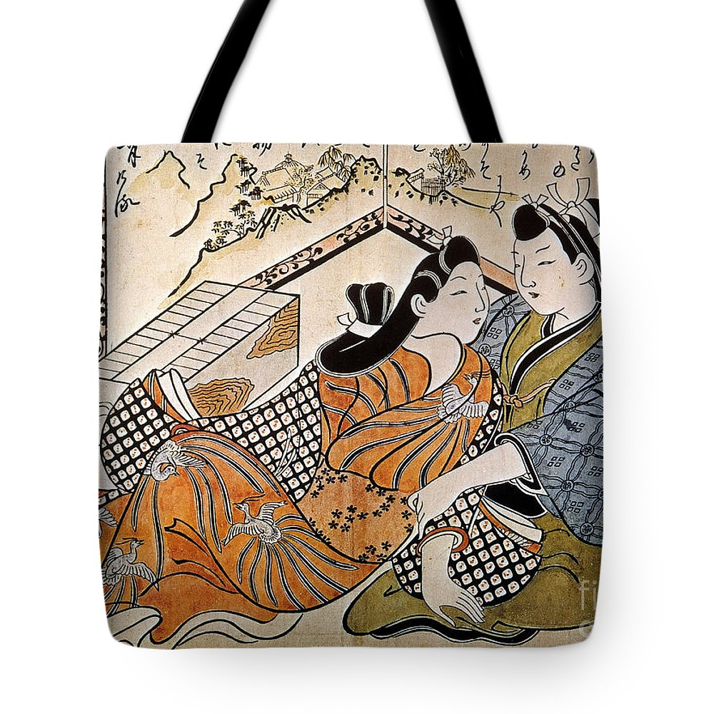 1685 Tote Bag featuring the photograph Japan: Lovers by Granger