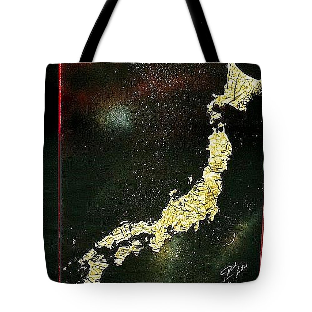 Map Tote Bag featuring the painting Japan by Rick Silas