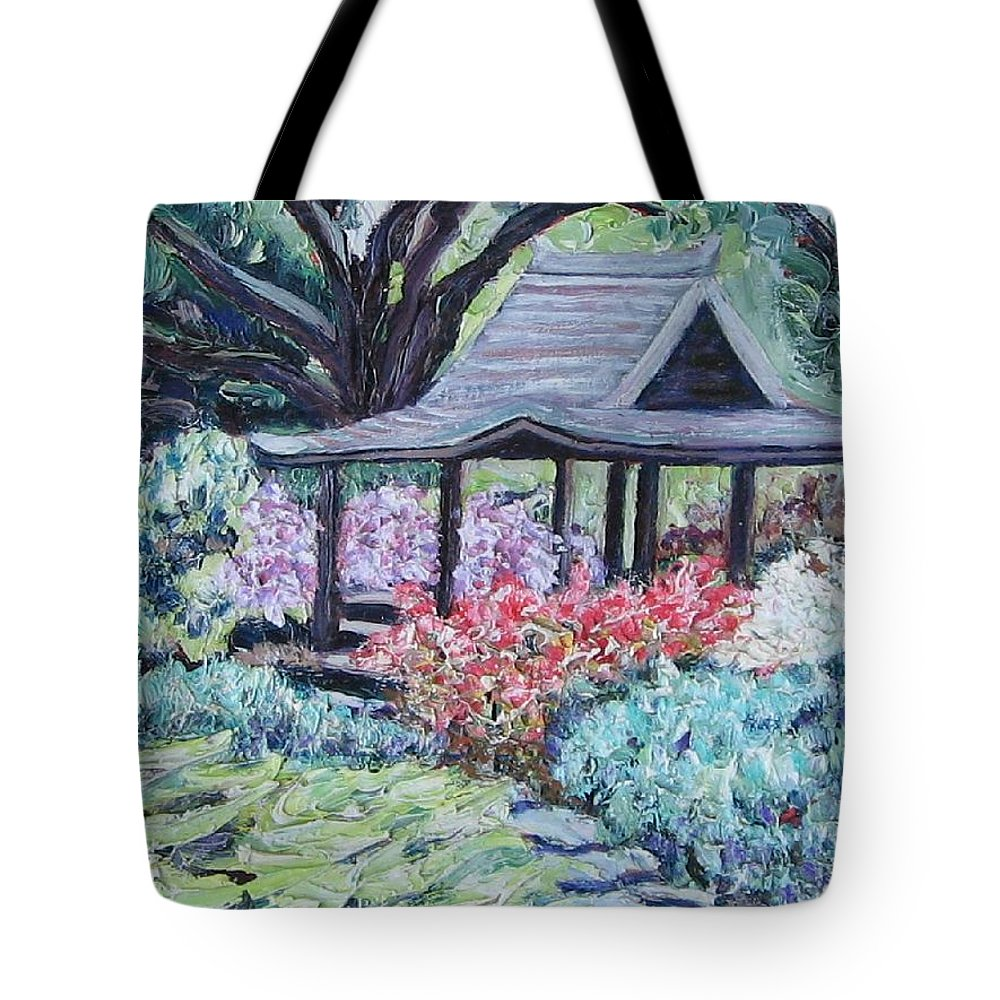 Garden Tote Bag featuring the painting Japanese Garden by Richard Nowak