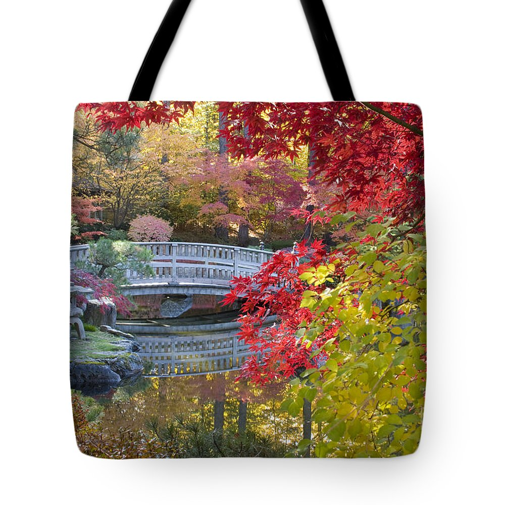 Gardens Tote Bag featuring the photograph Japanese Gardens by Idaho Scenic Images Linda Lantzy
