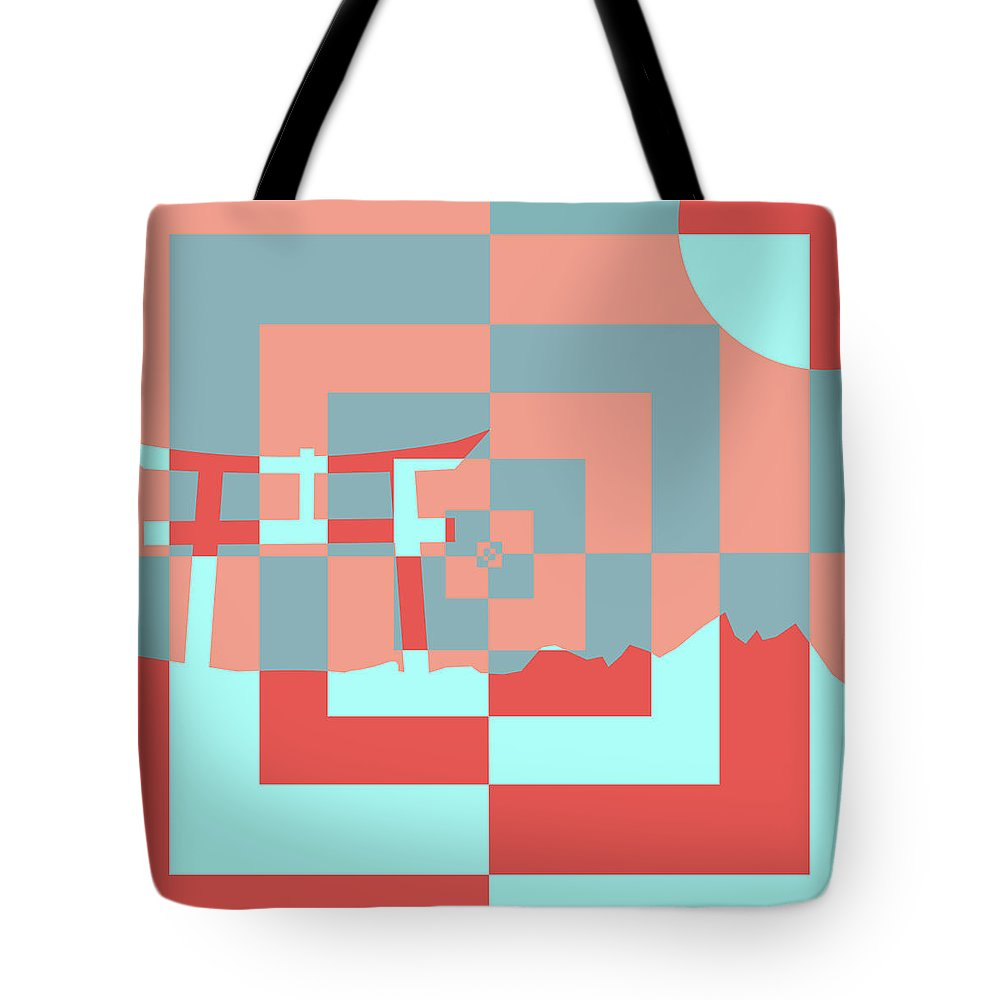 Japanese Tote Bag featuring the digital art Japanese Lily by Tanner Moritz
