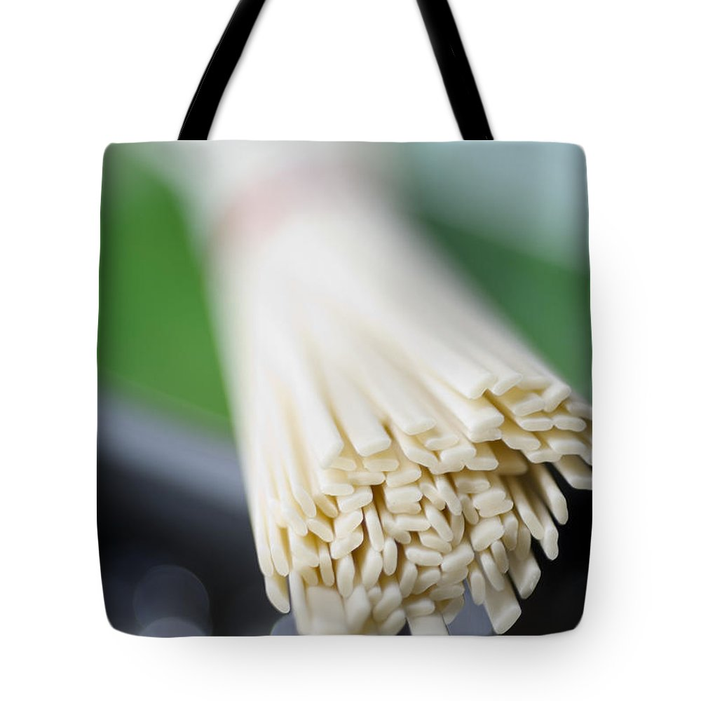 Abstract Tote Bag featuring the photograph Japanese Udon by Ray Laskowitz - Printscapes