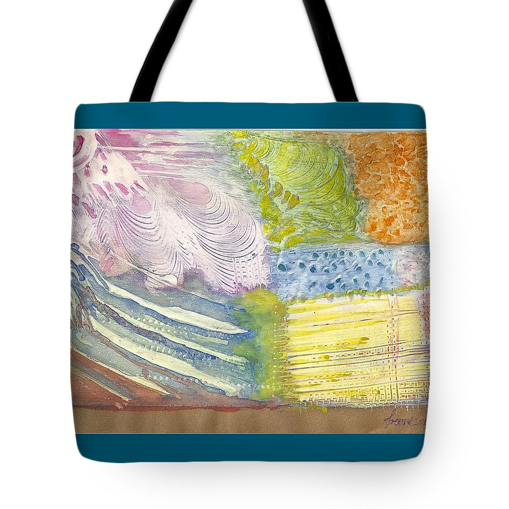 Abstract Watercolor And Gesso Tote Bag featuring the painting Jardin by Ivonne Sequera