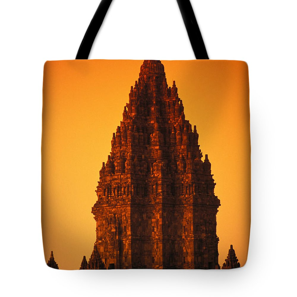 Ancient Tote Bag featuring the photograph Java, Prambanan by Gloria & Richard Maschmeyer - Printscapes