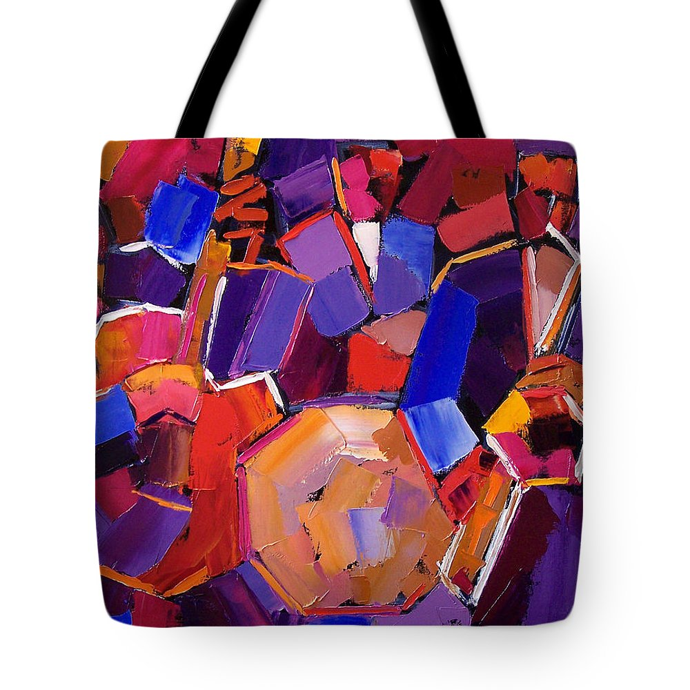 Jazz Tote Bag featuring the painting Jazz Angles Two by Debra Hurd