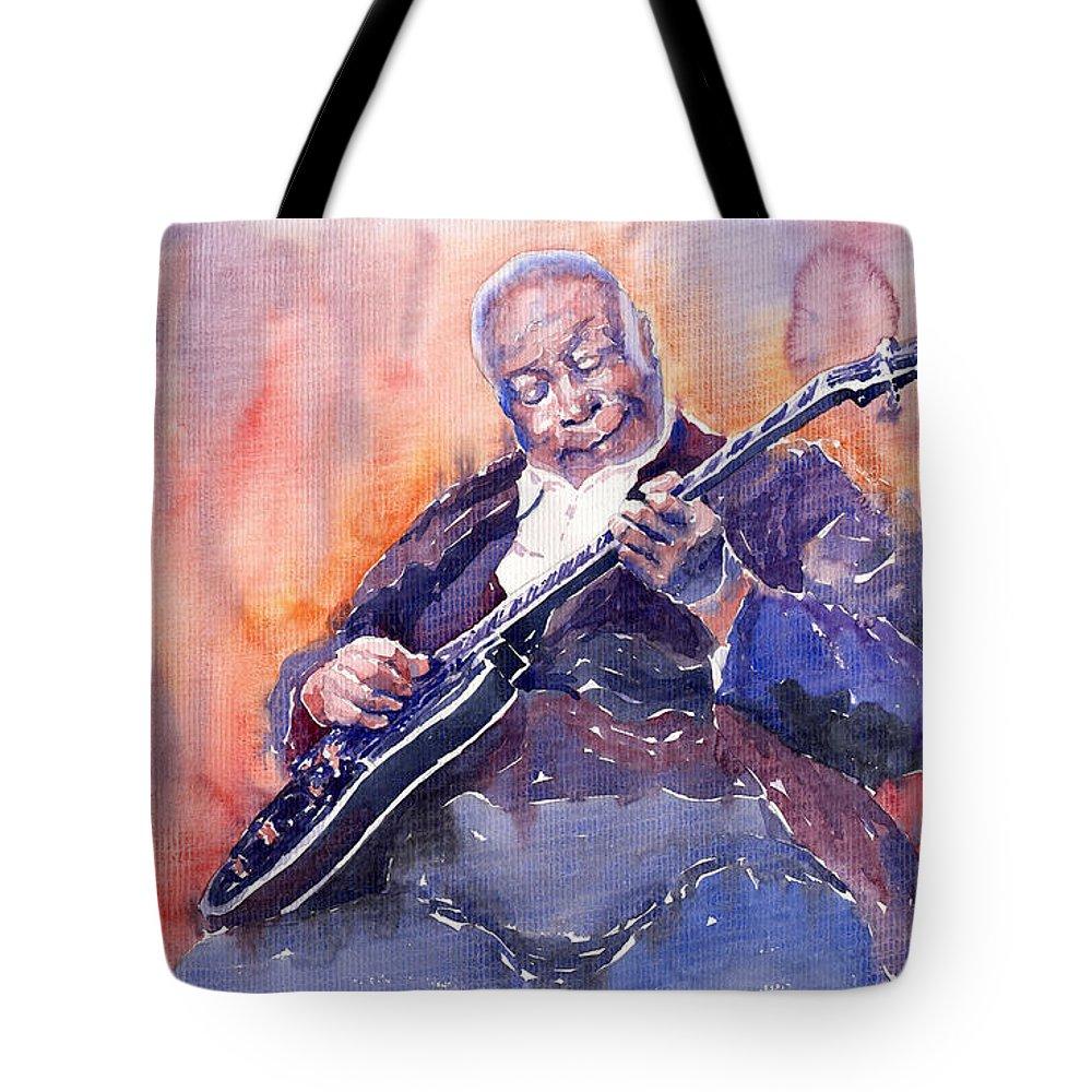 Jazz Tote Bag featuring the painting Jazz B.b. King 03 by Yuriy Shevchuk