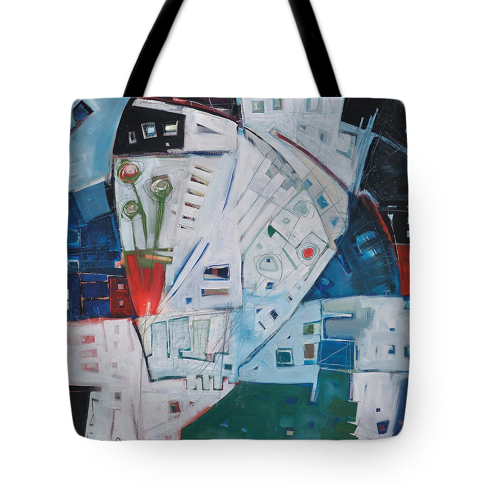 Jazz Tote Bag featuring the painting Jazz In Bloom by Tim Nyberg