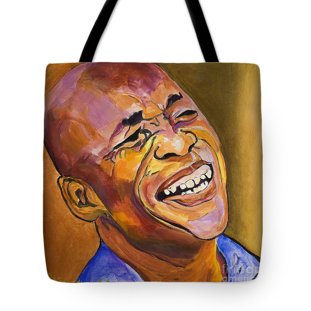 Portraits Tote Bag featuring the painting Jazz Man by Pat Saunders-White