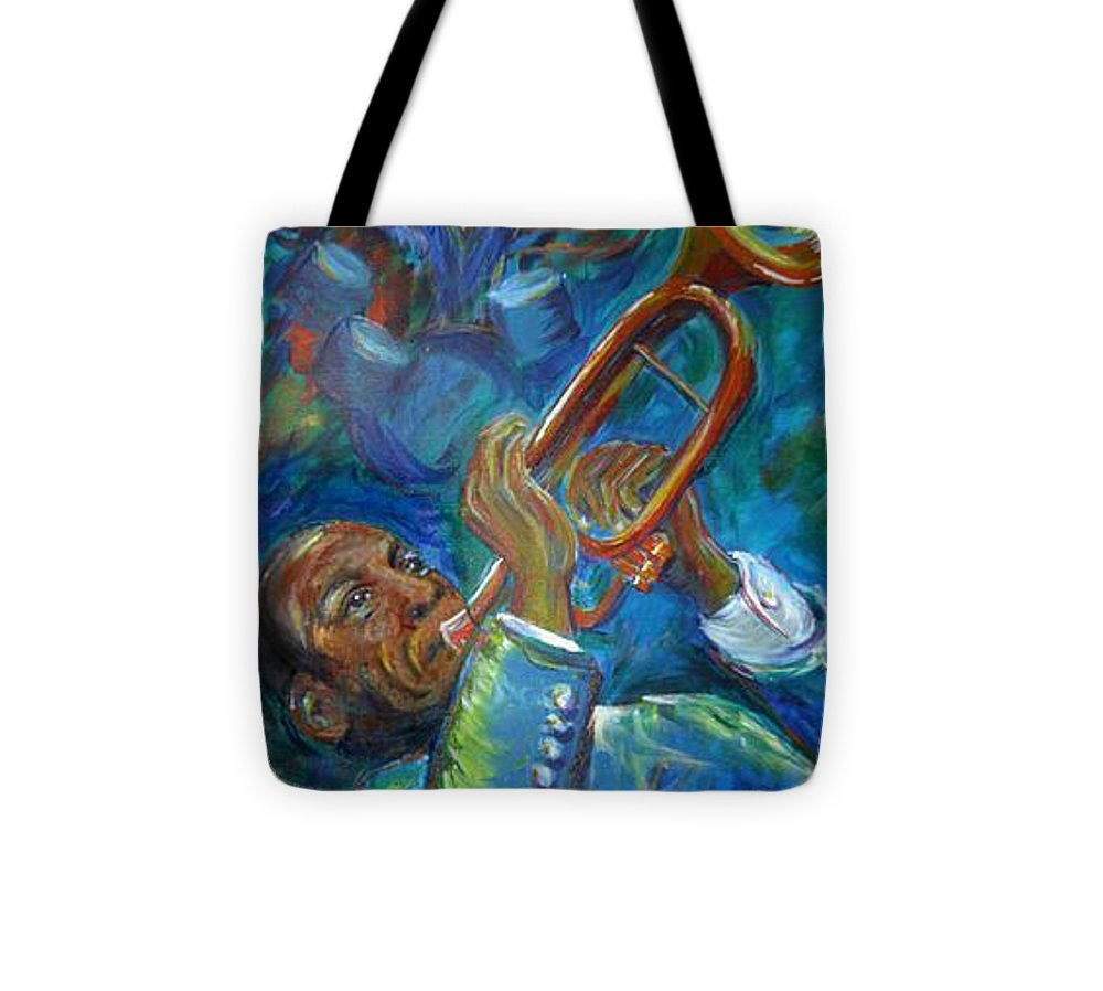 Jazz Tote Bag featuring the painting Jazz Man by Regina Walsh