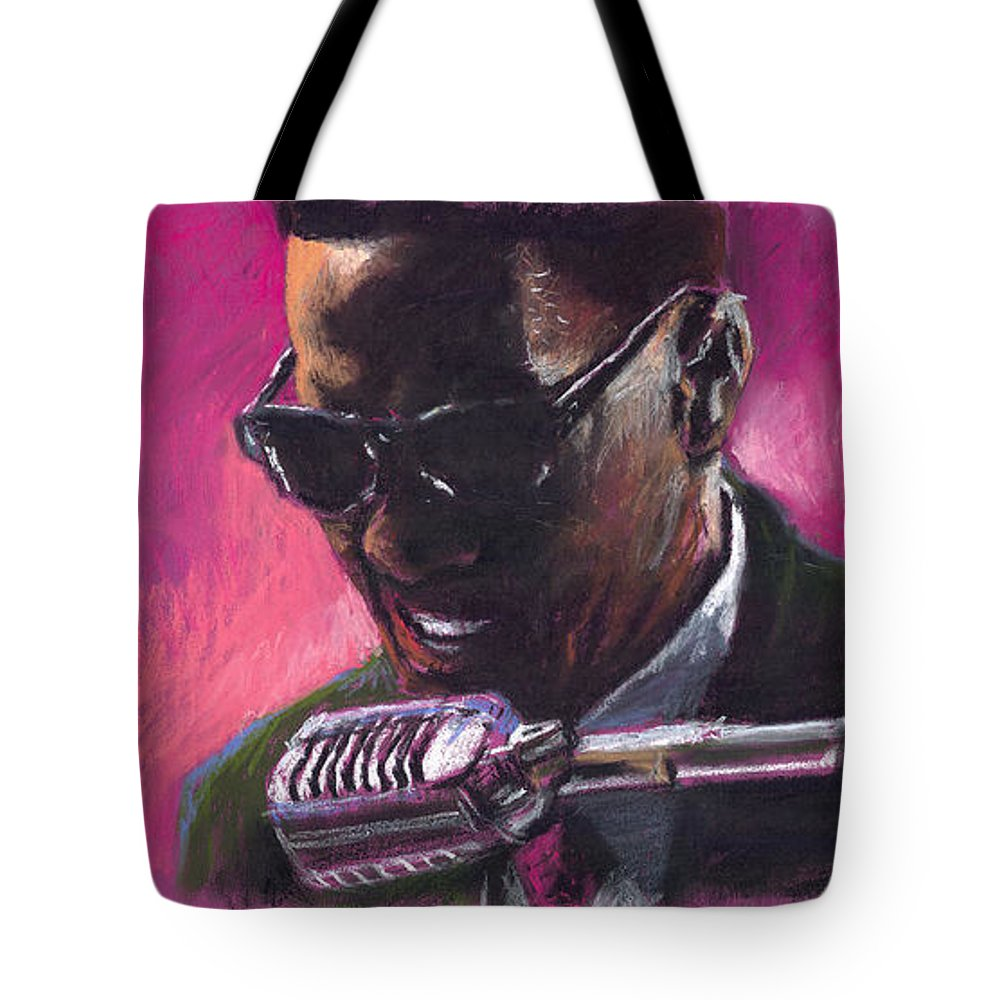 Jazz Tote Bag featuring the painting Jazz. Ray Charles.1. by Yuriy Shevchuk
