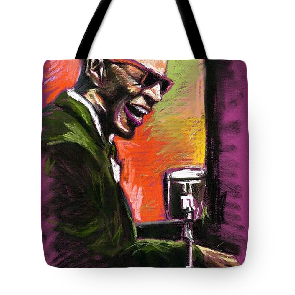 Tote Bag featuring the painting Jazz. Ray Charles.2. by Yuriy Shevchuk