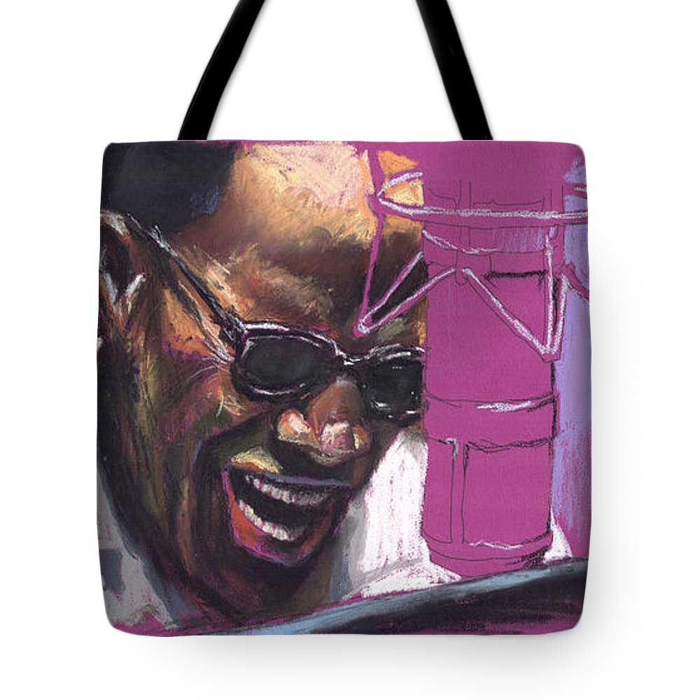 Jazz Tote Bag featuring the painting Jazz Ray by Yuriy Shevchuk