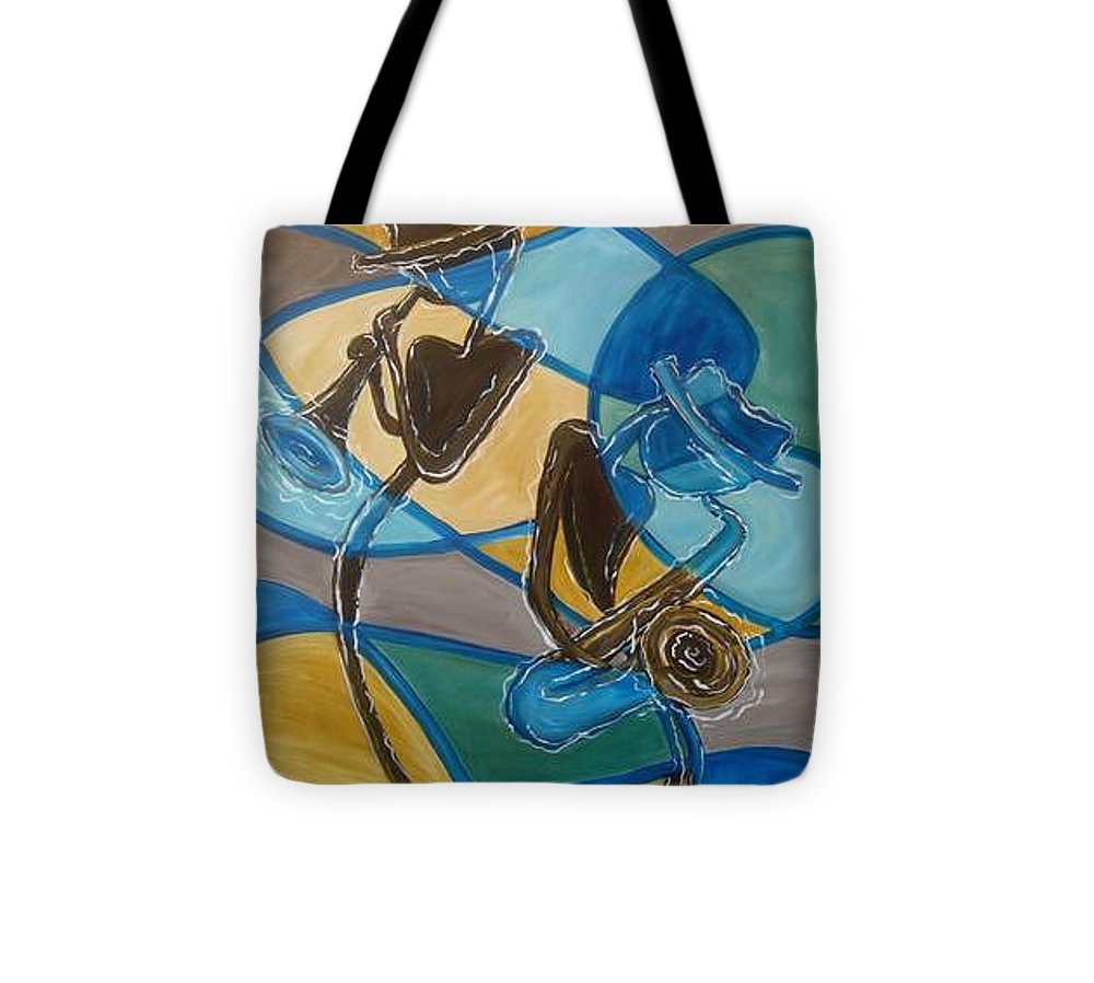 Jazz Tote Bag featuring the painting Jazz Raz by Regina Walsh