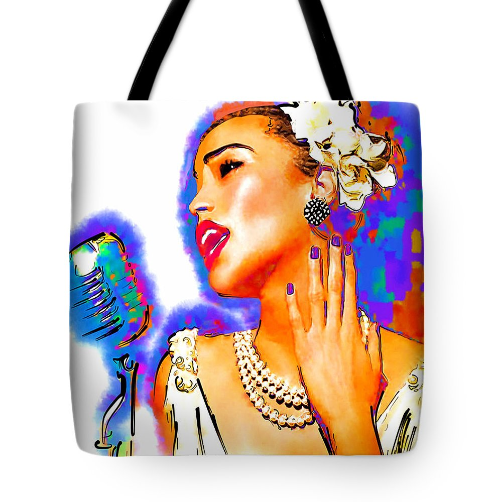 Musician Tote Bag featuring the drawing Holiday by Philip Gresham