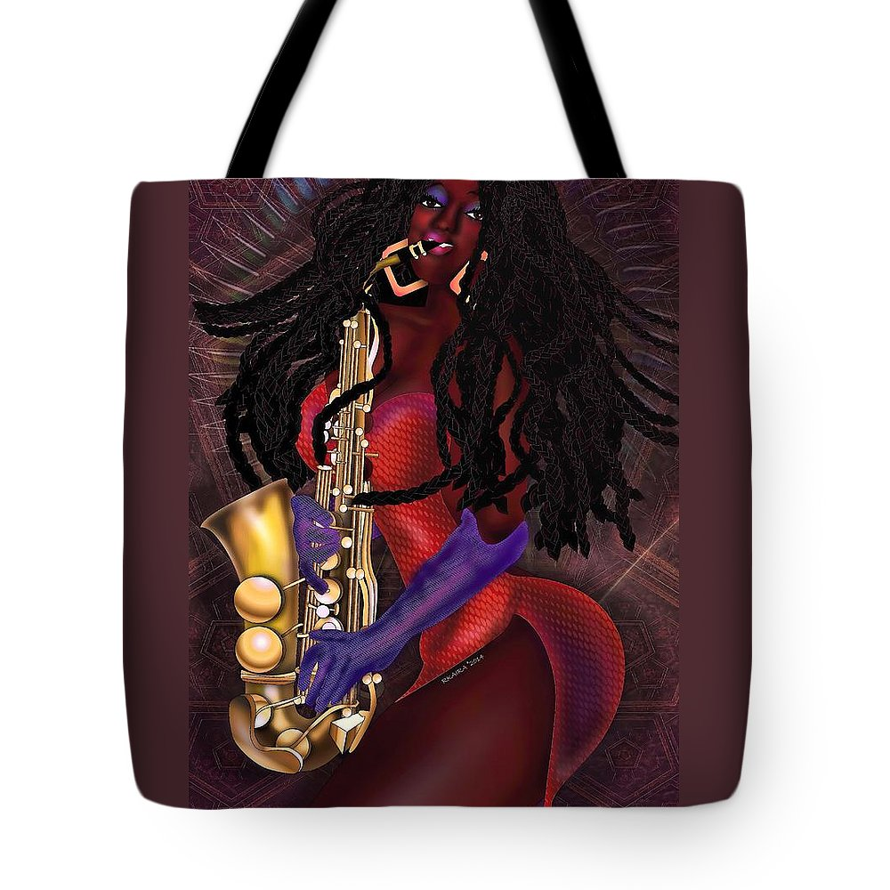Beauty Tote Bag featuring the digital art Jazzy Mama by Robina Kaira