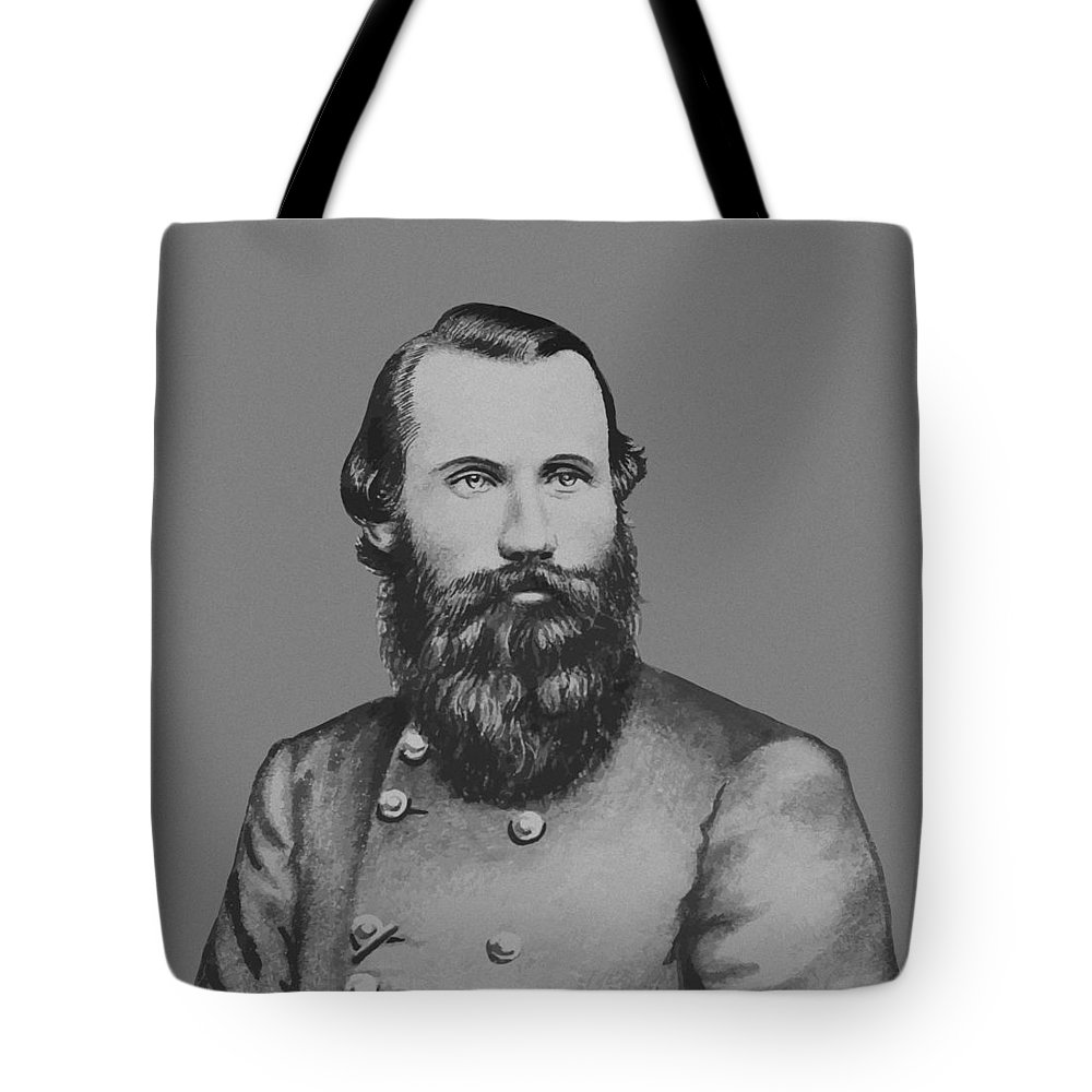 Jeb Stuart Tote Bag featuring the painting Jeb Stuart -- Confederate General by War Is Hell Store