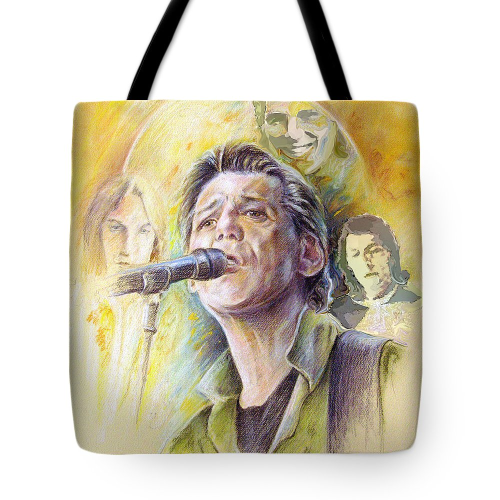 Jeff Christie Tote Bag featuring the painting Jeff Christie by Miki De Goodaboom