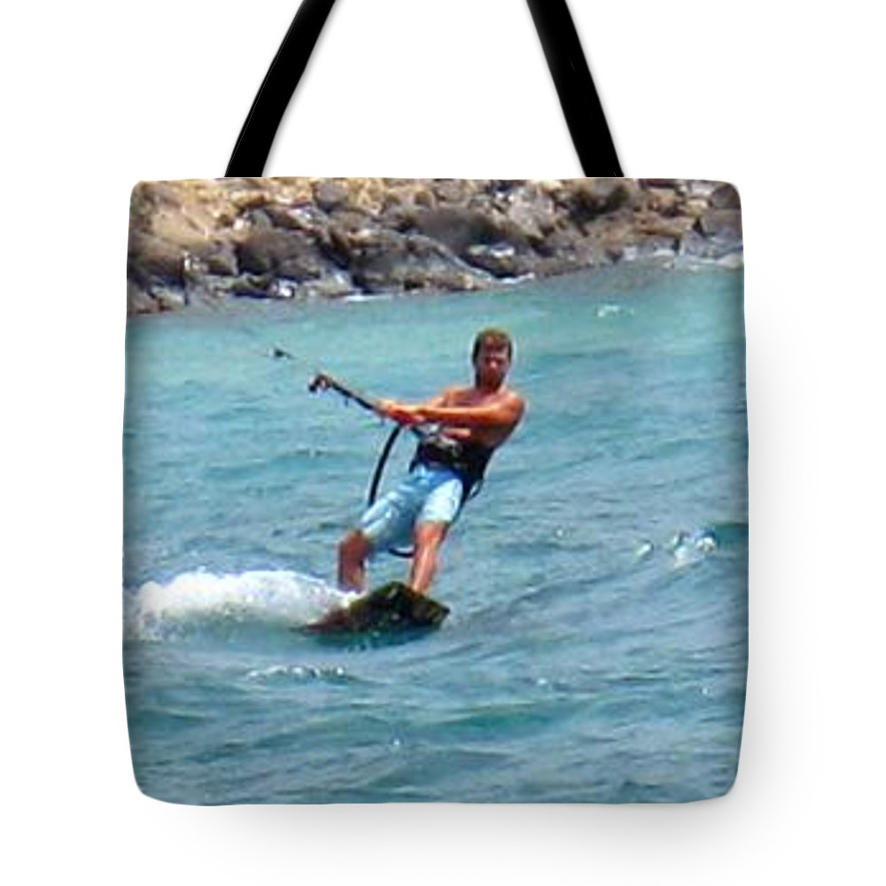 Kite Tote Bag featuring the photograph Jeff Kite Surfer by Ian MacDonald