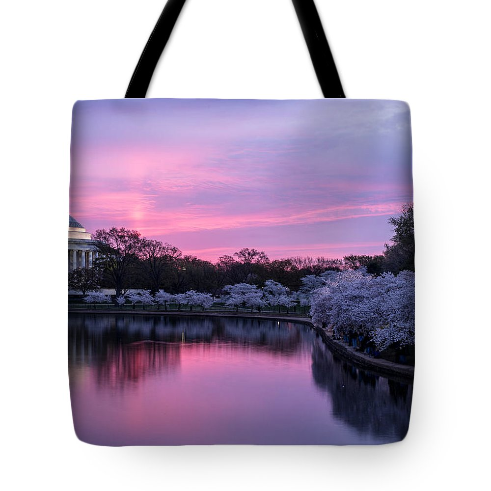 Thomas Tote Bag featuring the photograph Jefferson Memorial Sunrise by Colin Gilyeat
