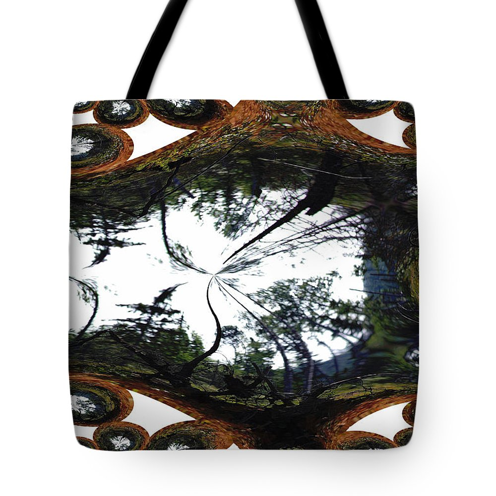 Trees Forest Life Cells Abstract Earth Sky Scenery Weird Different Green Land Tote Bag featuring the photograph Jellin by Andrea Lawrence