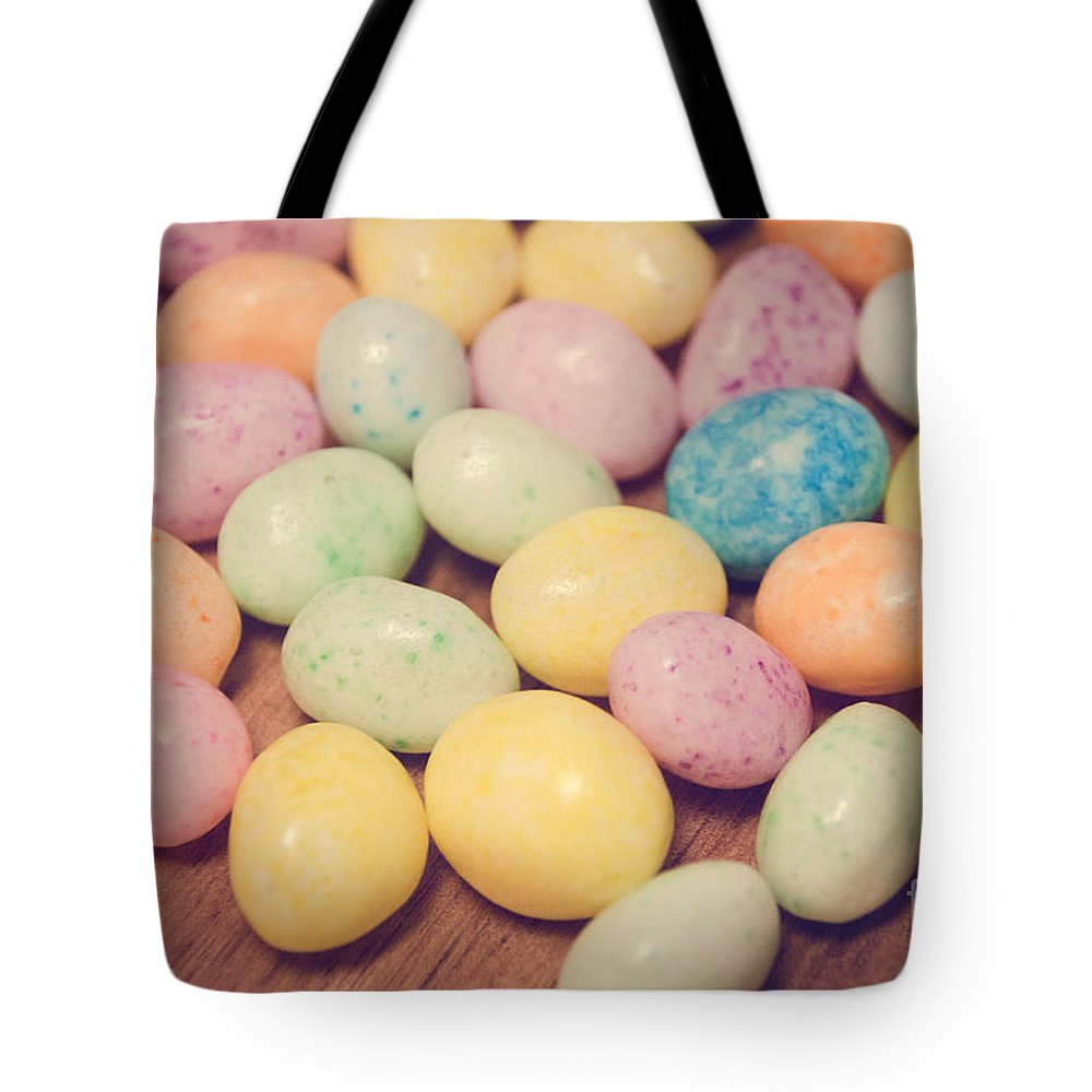 Sweet Tote Bag featuring the photograph Jelly Beans by Andrea Anderegg
