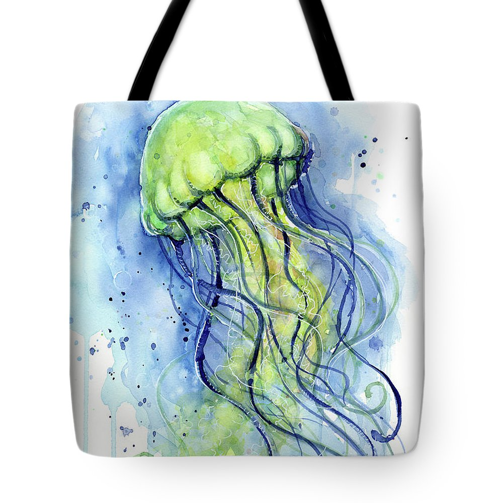 f67bf854d8b Jellyfish Watercolor Tote Bag for Sale by Olga Shvartsur