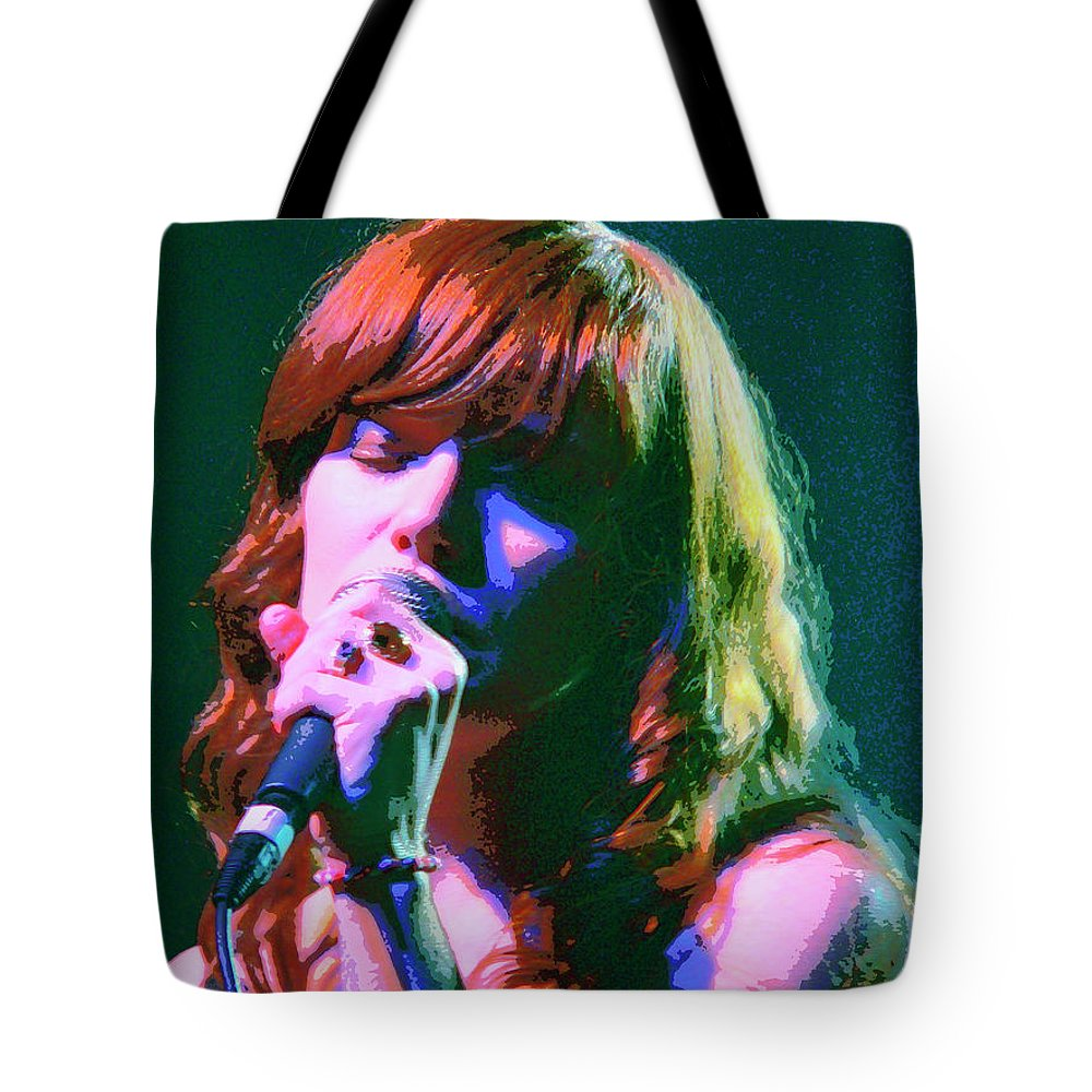 Jenny Lewis Tote Bag featuring the mixed media Jenny Lewis 2 by Dominic Piperata