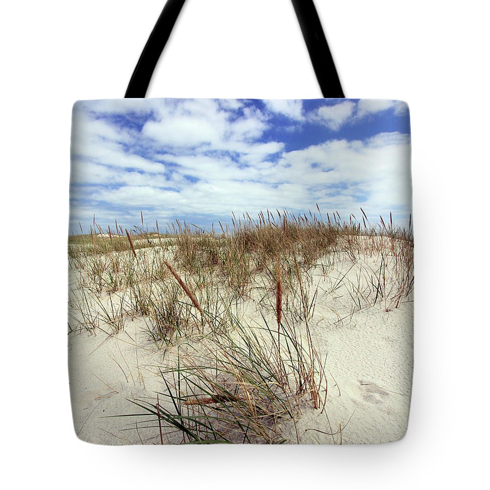 Beach Tote Bag featuring the photograph Jersey Dune I by Mary Haber