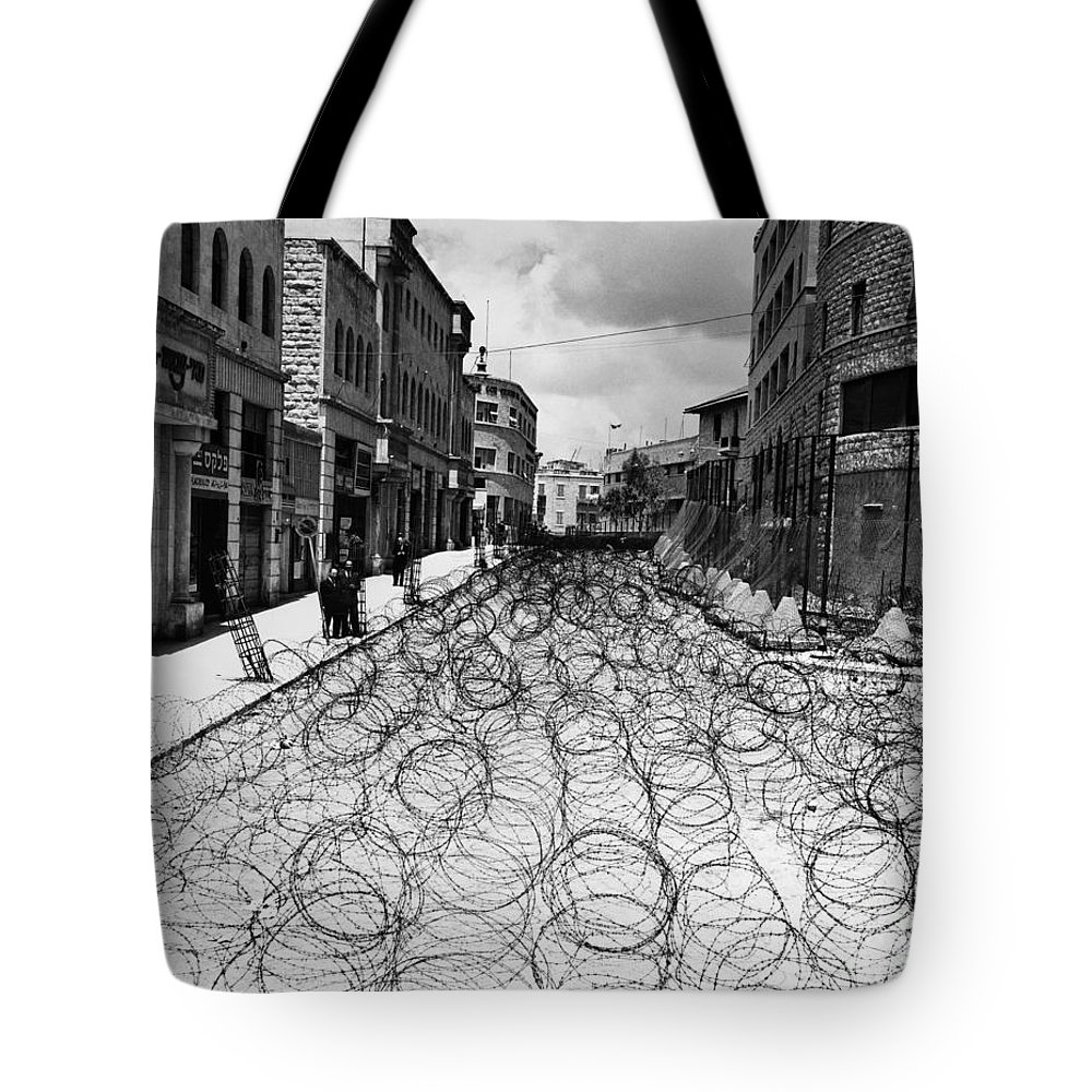 1948 Tote Bag featuring the photograph Jerusalem: Street, 1948 by Granger