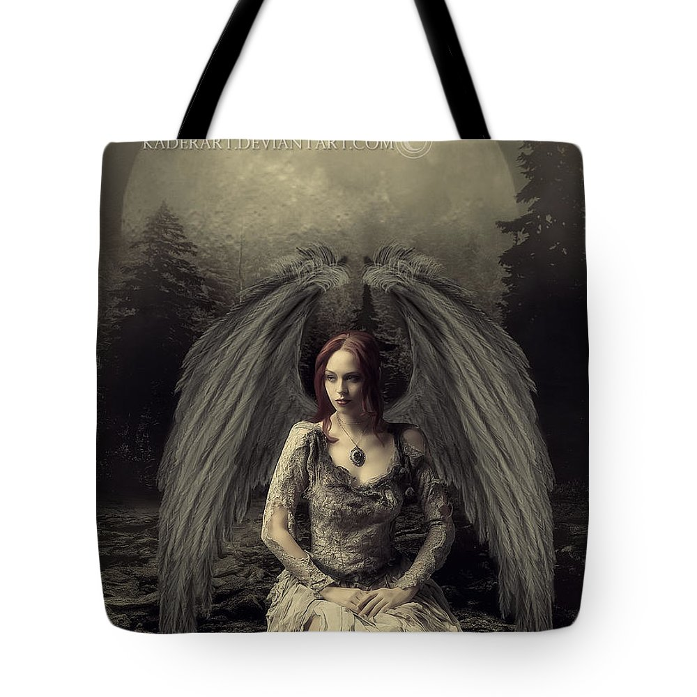 Tote Bag featuring the digital art Jessica Angel by Abdelkader Bouazza