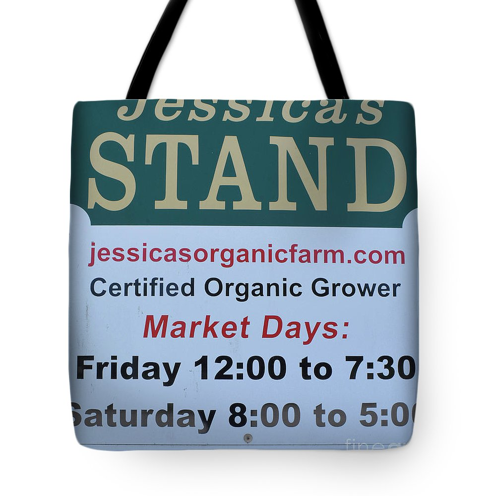 Jessica's Stand Tote Bag featuring the photograph Jessica's Stand by To-Tam Gerwe