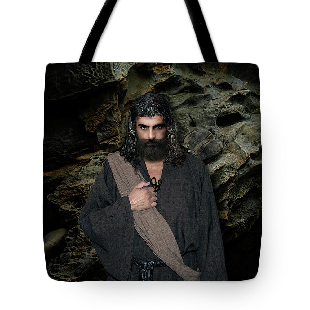 Alex-acropolis-calderon Tote Bag featuring the photograph Jesus Christ- Be Still And Know That I Am God by Acropolis De Versailles