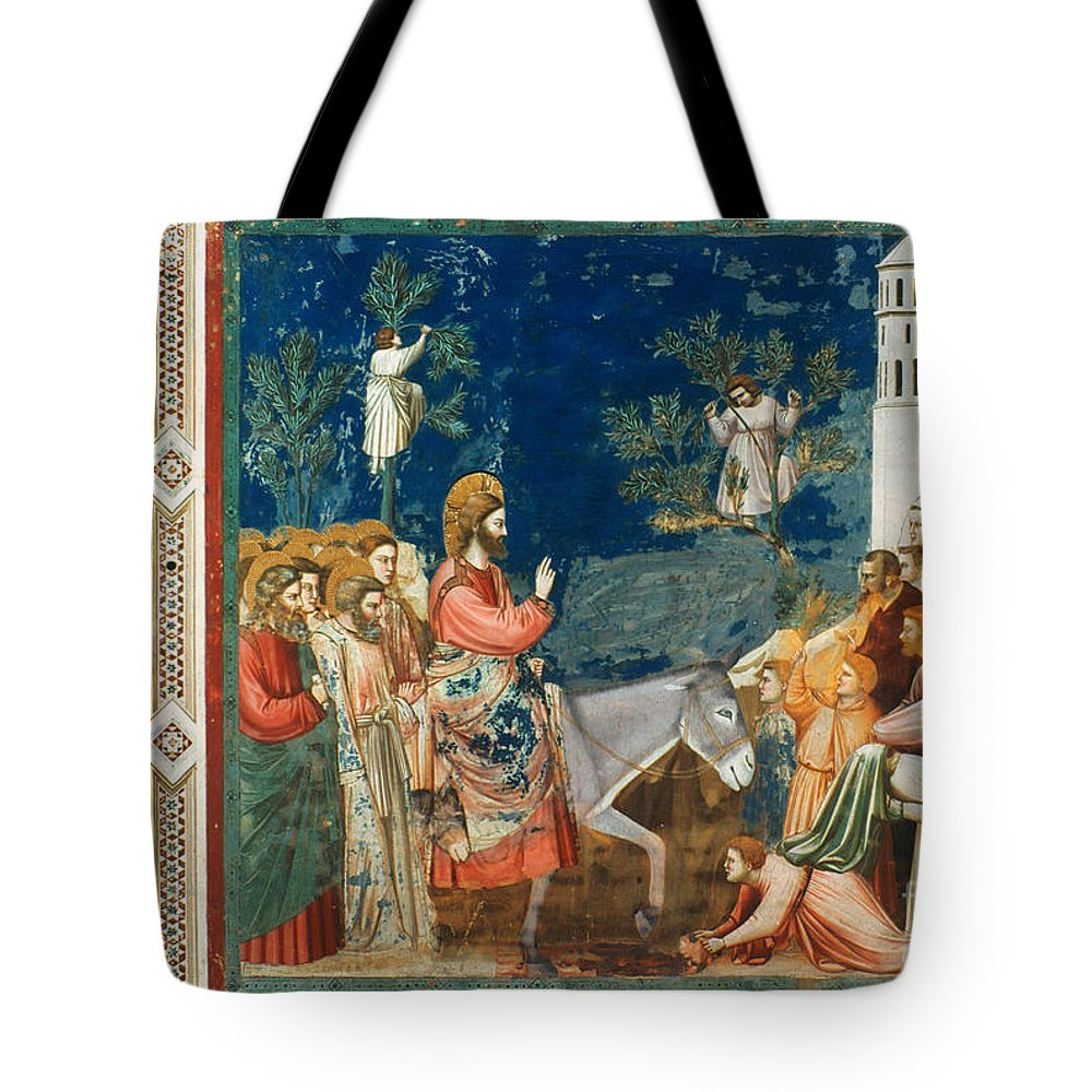 1305 Tote Bag featuring the photograph Jesus Entering Jerusalem by Granger