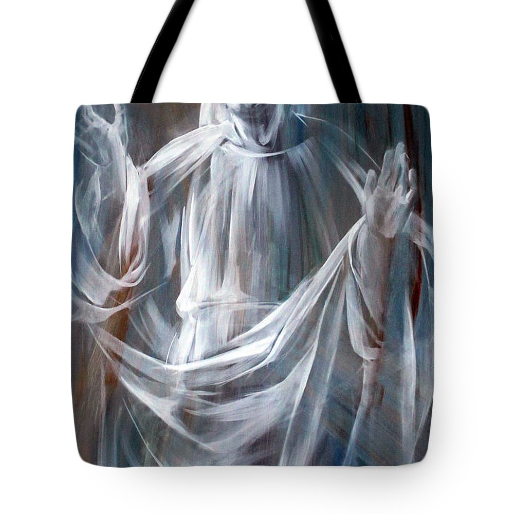 Jesus Tote Bag featuring the photograph Jesus In Rome by Munir Alawi