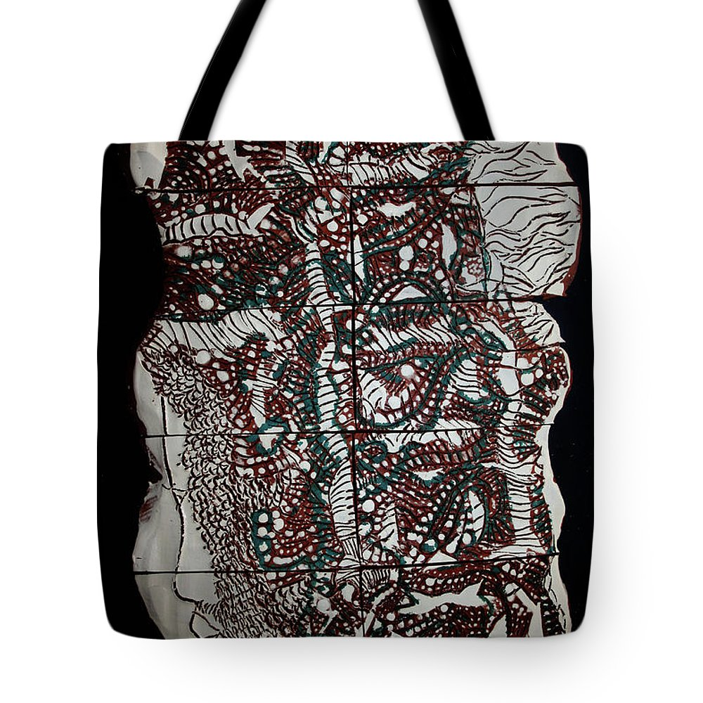 Mama Africa Twojesus Tote Bag featuring the ceramic art Jesus The Lion Of Judah by Gloria Ssali