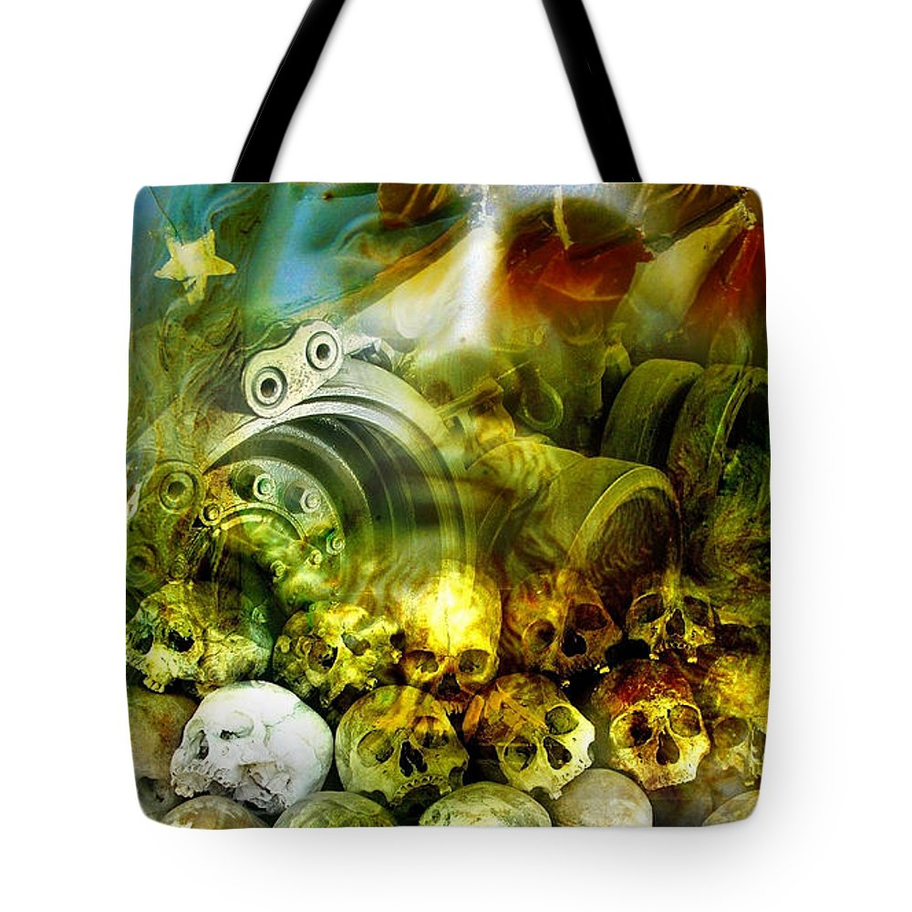 Jesus Tote Bag featuring the photograph Jesus Wept by Skip Hunt