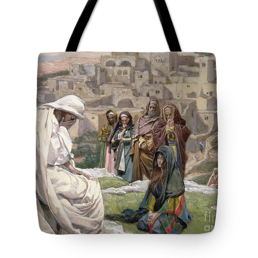 Jesus Tote Bag featuring the painting Jesus Wept by Tissot
