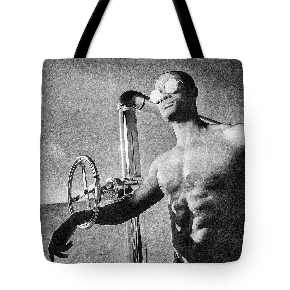 Dry Tote Bag featuring the photograph Jevon At El Mirage Dry Lake by YoPedro