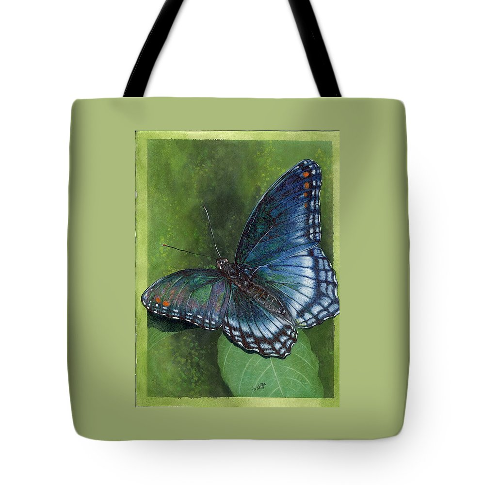 Insects Tote Bag featuring the mixed media Jewel Tones by Barbara Keith