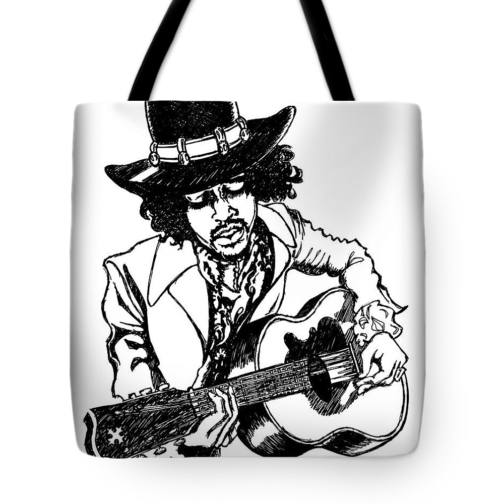 Guitar Tote Bag featuring the painting J.h.1 by SKIP Smith