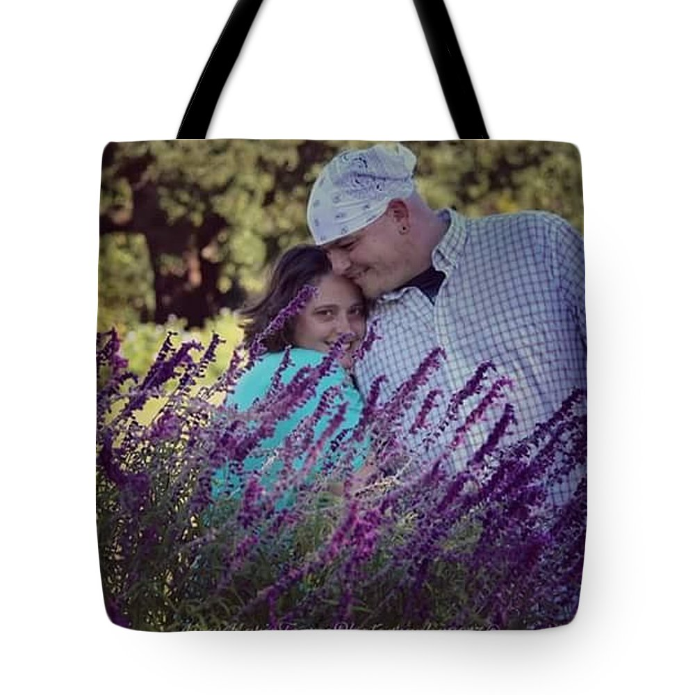 Tote Bag featuring the photograph Jill Purple by Lisa Marie Towne