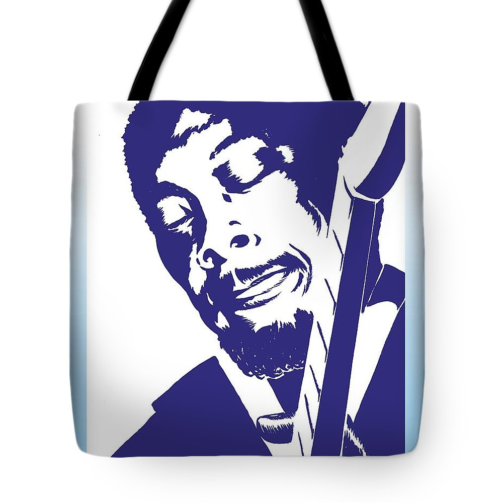 Jimmy Tote Bag featuring the drawing Jimmy Rogers by Markus Neal Humby