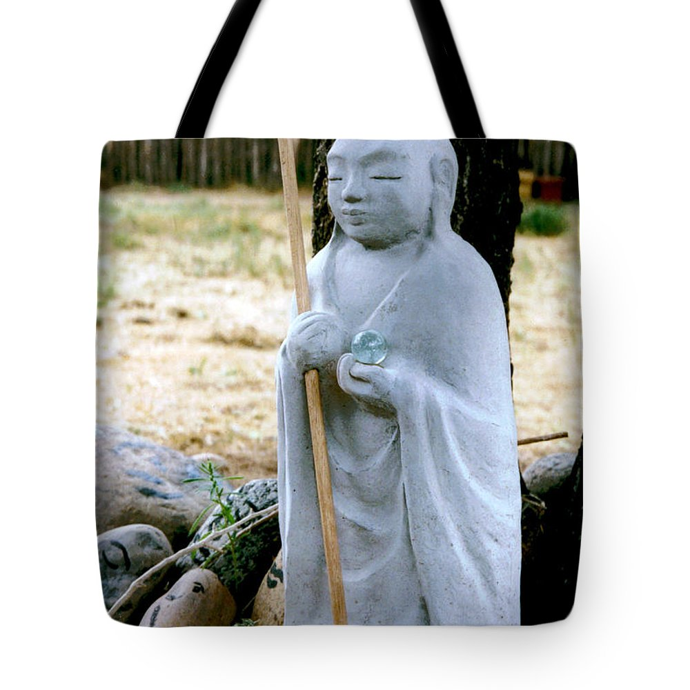 Jizo Tote Bag featuring the photograph Jizo Bodhisattva - Children's Protector by Dagmar Batyahav