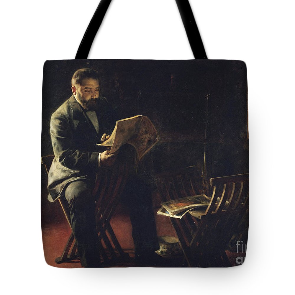 Graner Arrufi Tote Bag featuring the painting Joaquim Cabot I Rovira by MotionAge Designs